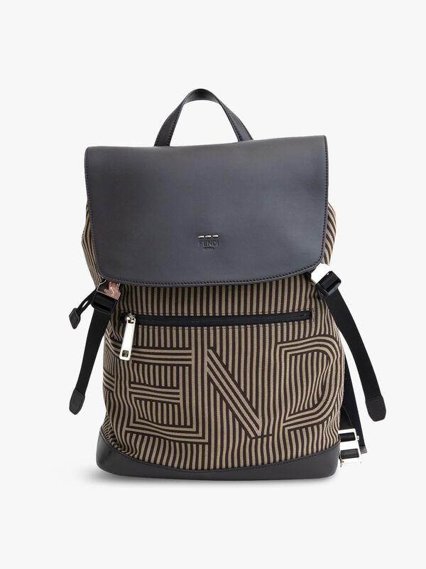 Fendi Optical Striped Backpack