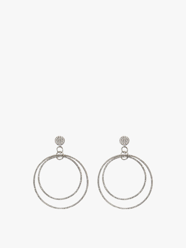 Double Crystal Circles Earrings