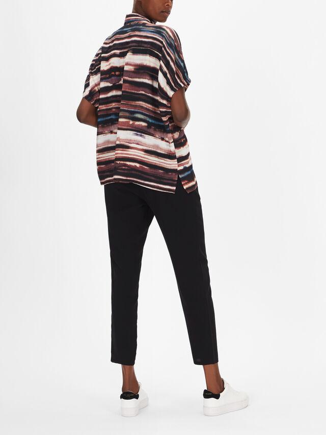 Iboni Wave Print Blouse