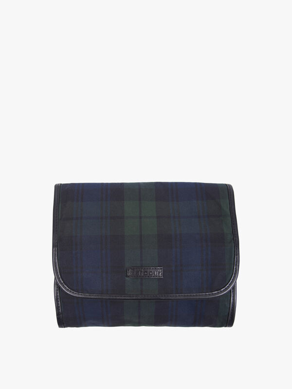 Tartan Wax Hanging Wash Bag