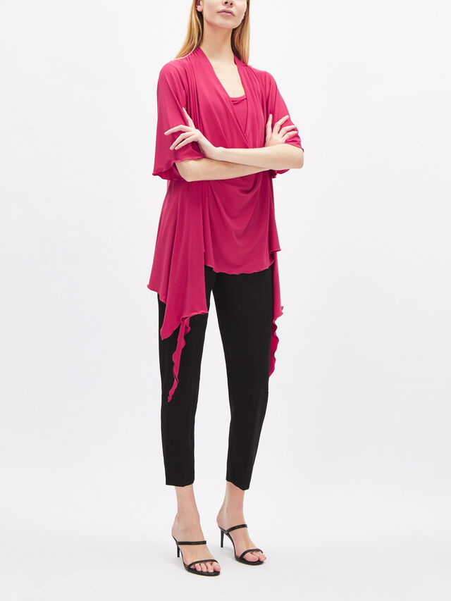 2PC Cowl Jersey Top with Tank