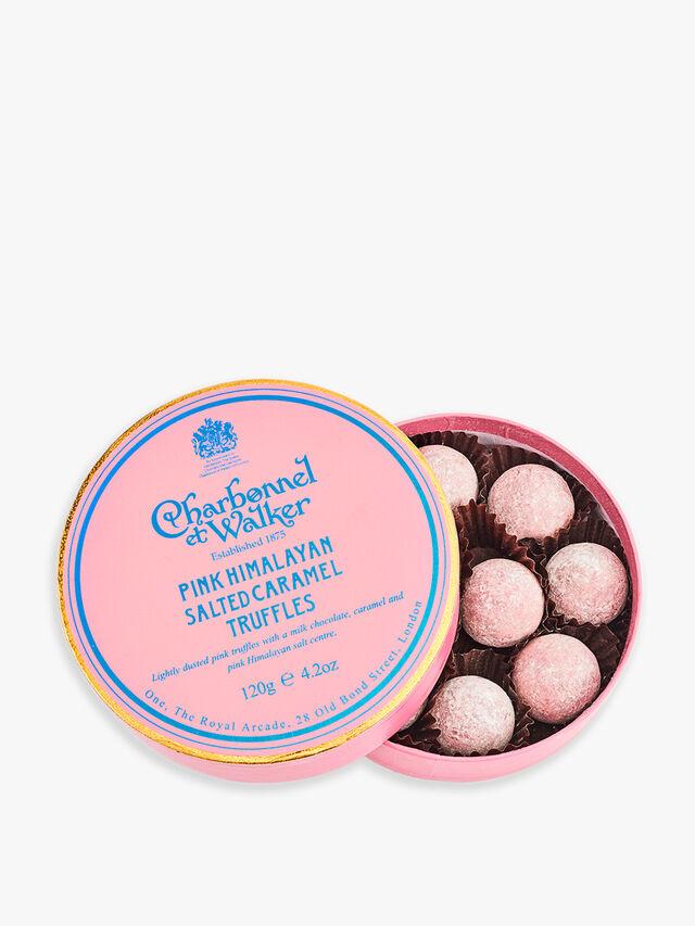Pink Himalayan Salted Caramel Truffles
