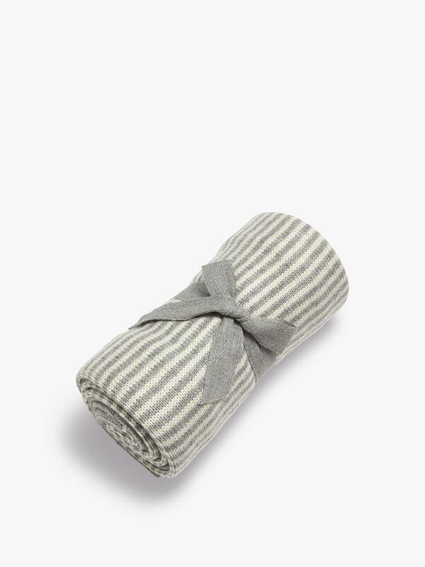 Knitted Stripe Blanket