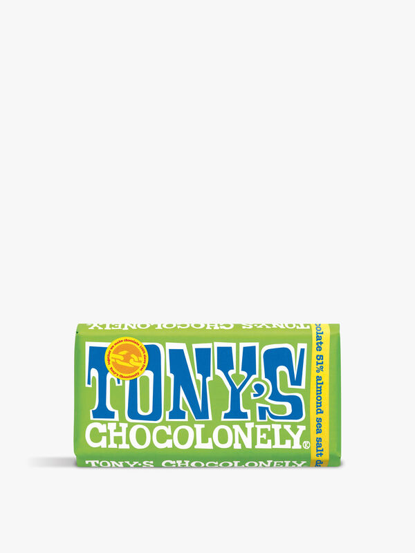 Tony's 51% Dark Almond Sea Salt Bar