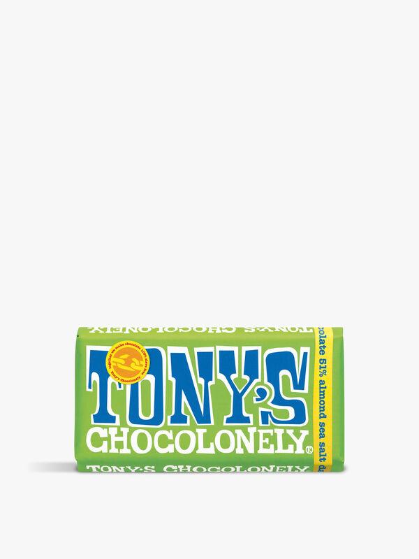 Tony's 51% Dark Almond Sea Salt Bar