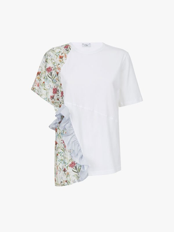 T Shirt With Floral Panels