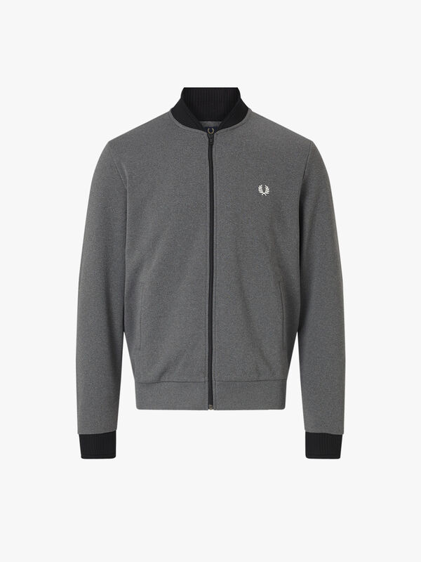 Tipped Bomber Neck Track Jacket