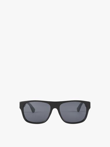 Stripe Temple Square Acetate Sunglasses