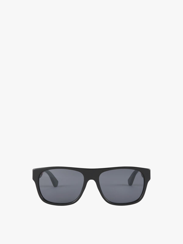 Stripe Temple Square Acetate Sunglasses