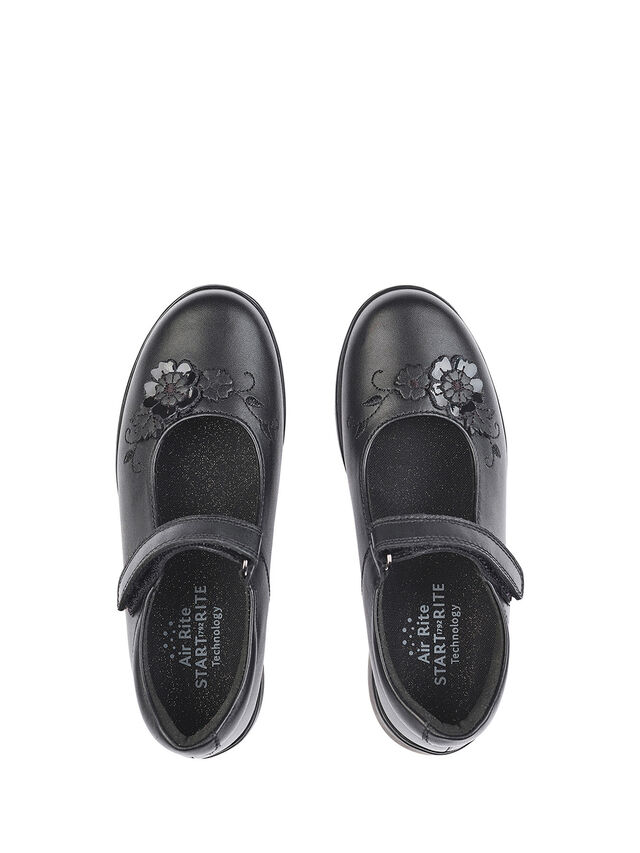 Wish Black Leather School Shoes