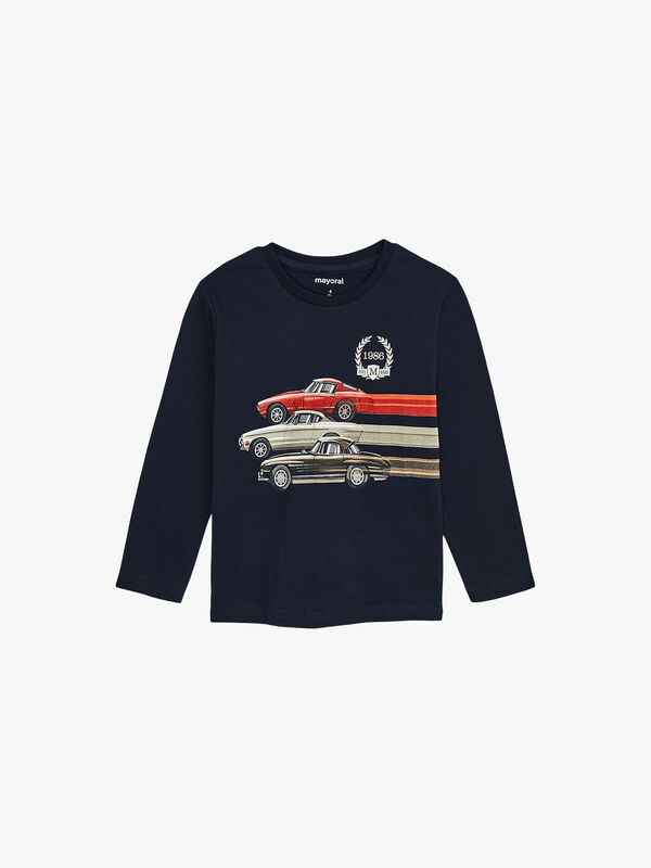 Long Sleeved Top With Cars