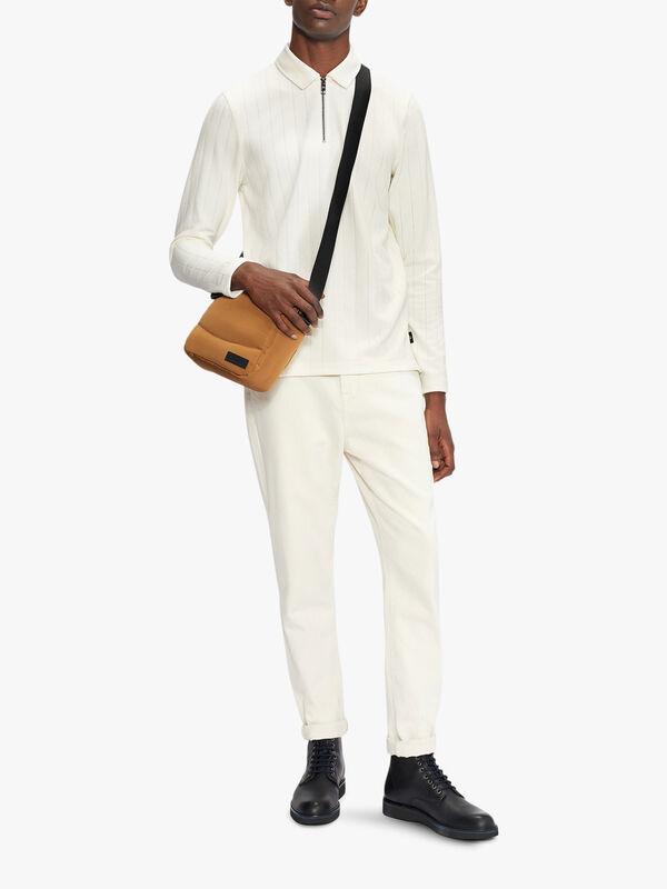 DRYCIDA Long Sleeve Textured Polo