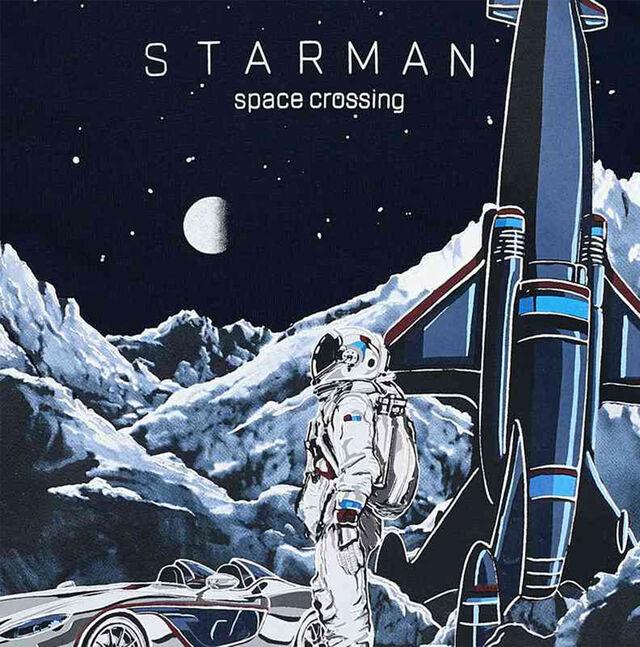 Long Sleeved Space Rocket Top