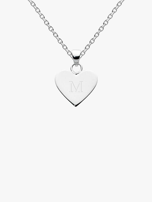Dew Alphabet Heart Pendant M