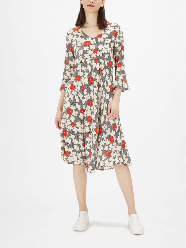 Nita Print Tailored A Line Dress