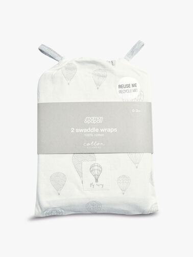 Balloon Swaddle Wraps - 2 Pack