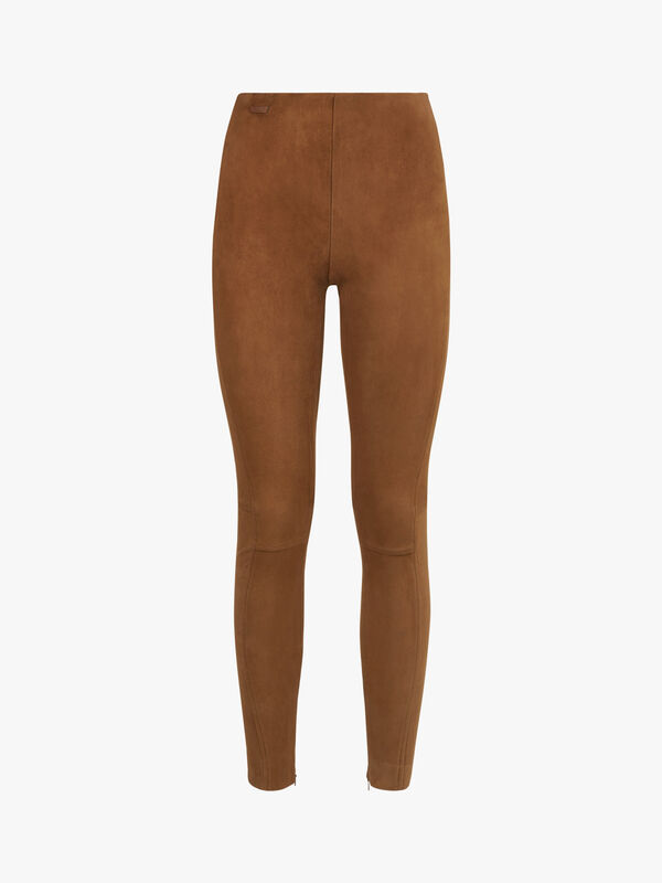 Leland Stretch Suede Trousers