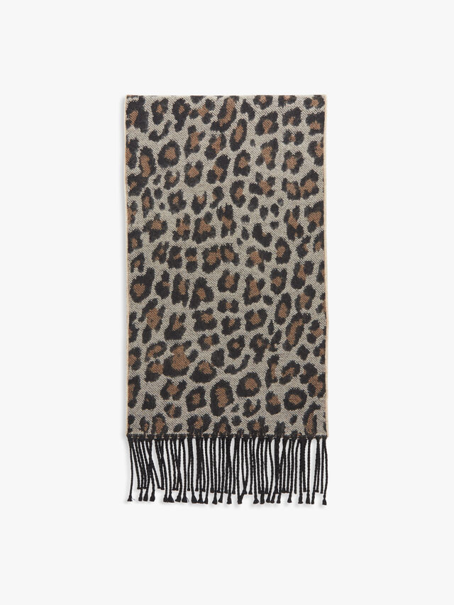 Leopard Jacquard Scarf