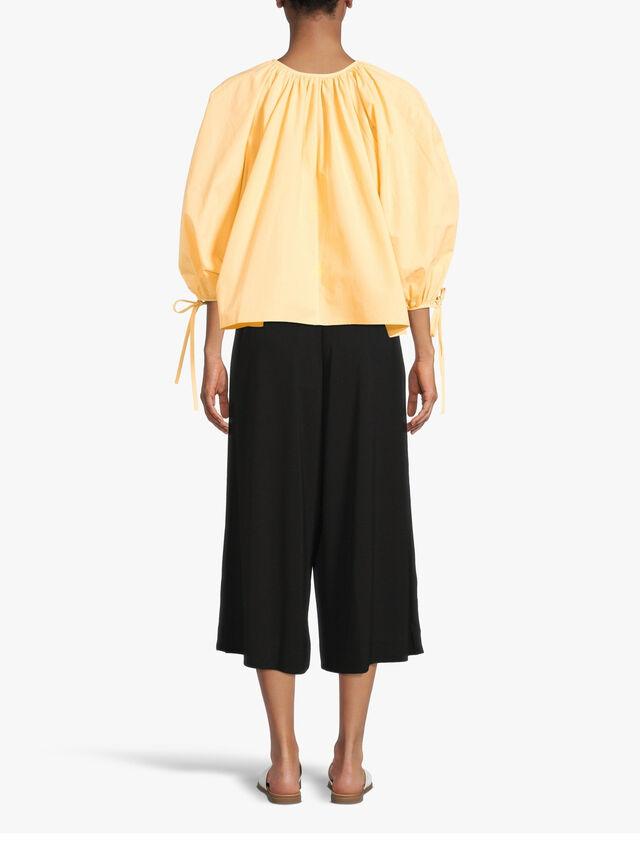 Palini Pleat Front Wide Leg Cropped Jersey Trouser
