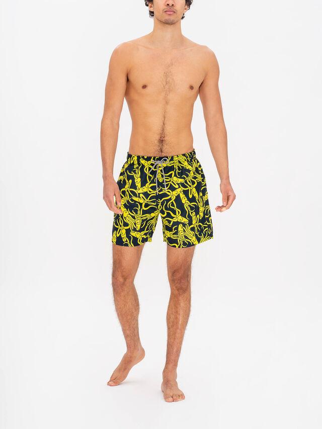 Boardies x RÆBURN Squid Yellow Swim Shorts