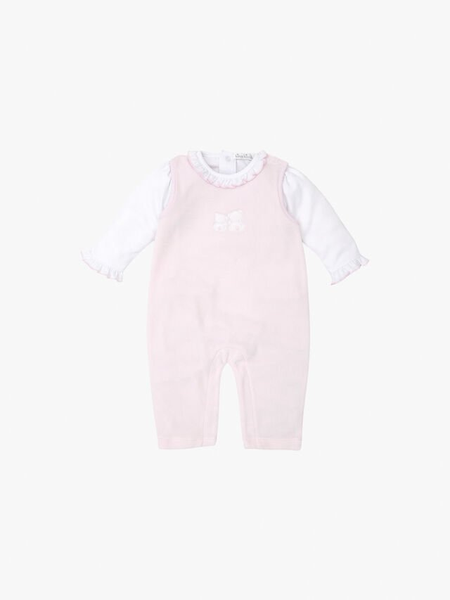 Pique Bare Backs Velour Overall Set