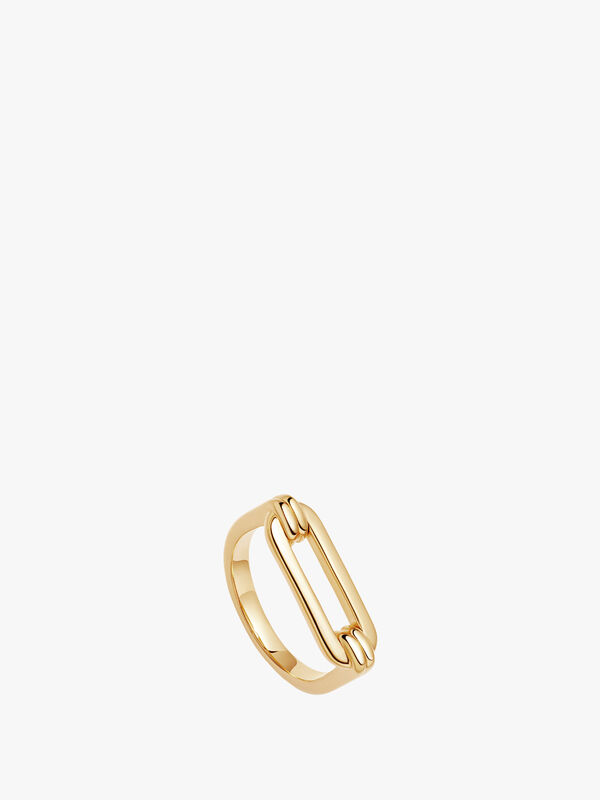 Gold Ovate Ring