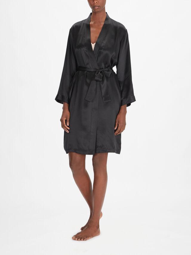 Short Silk Robe