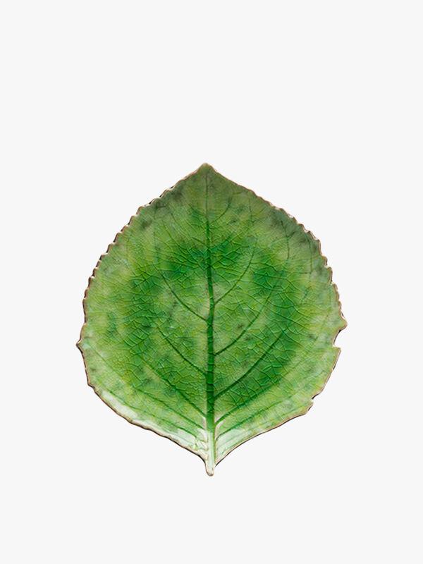 Riviera Tomate Hydrangea Leaf Plate