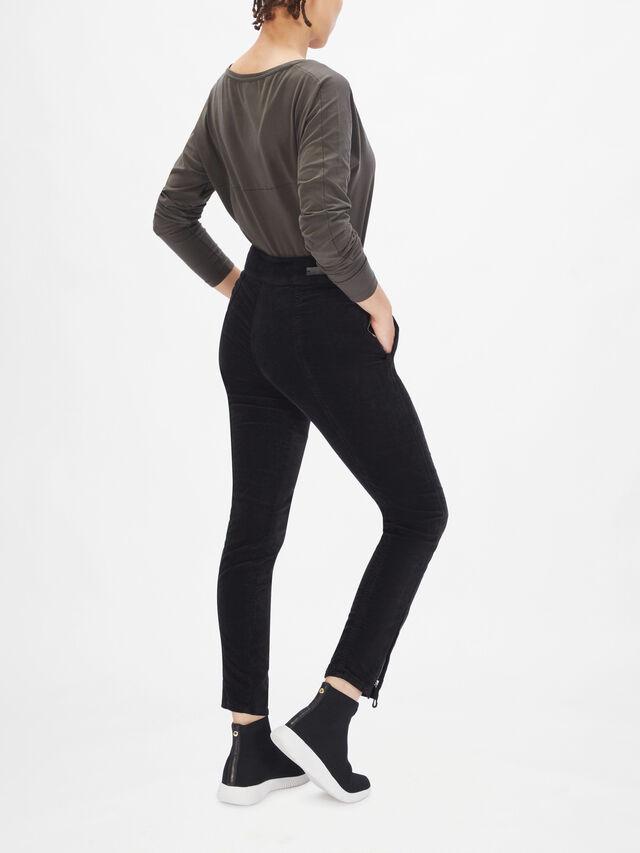 Velvet Slim Leg Trousers