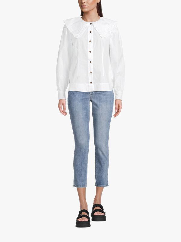 Cotton Poplin Collared Shirt