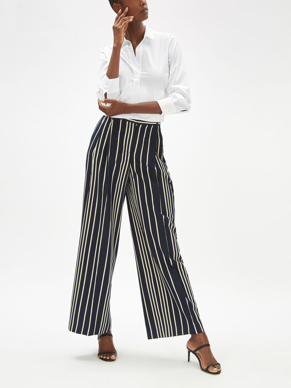 Pina Wide Leg Stripe Pant