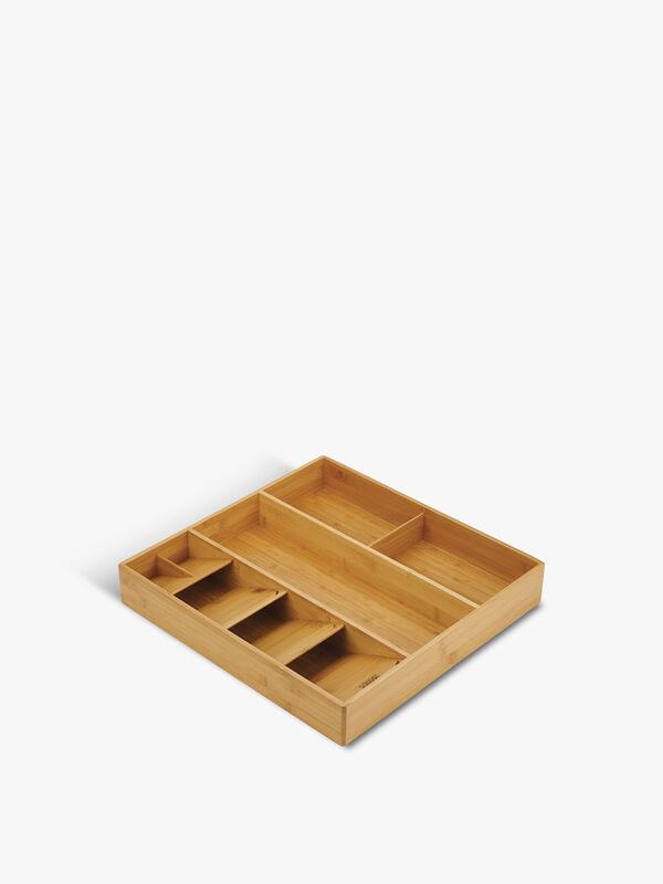 DrawerStore Bamboo Cutlery, Utensil & Gadget Organiser