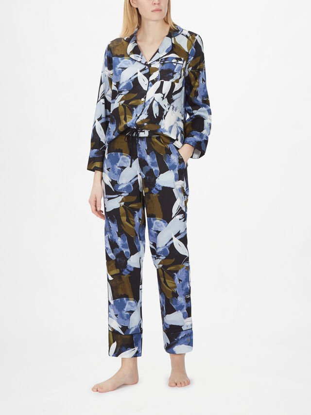 Kensington Long Sleeve Abstract Leaf Print PJ Set