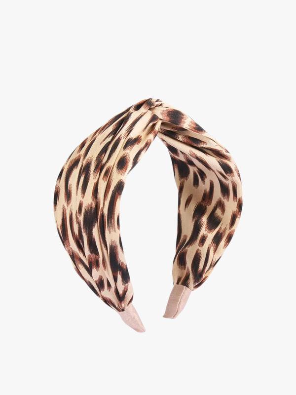 Beige Leopard Classic Silk Headband