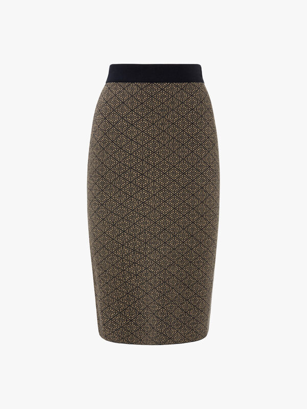 Zebio Jacquard Knitted Skirt