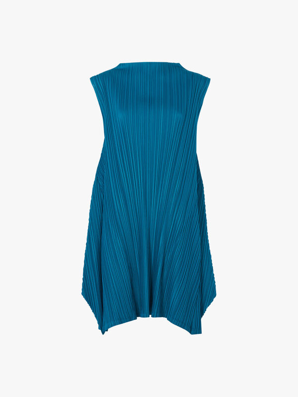 Mellow Pleats High Neck Dress