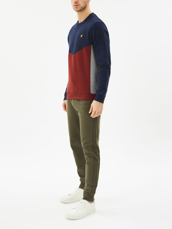 Multi Panel Sweatshirt