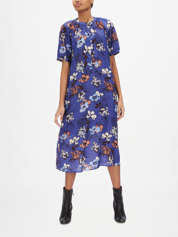 Diara Enlarged Floral Printed Dress