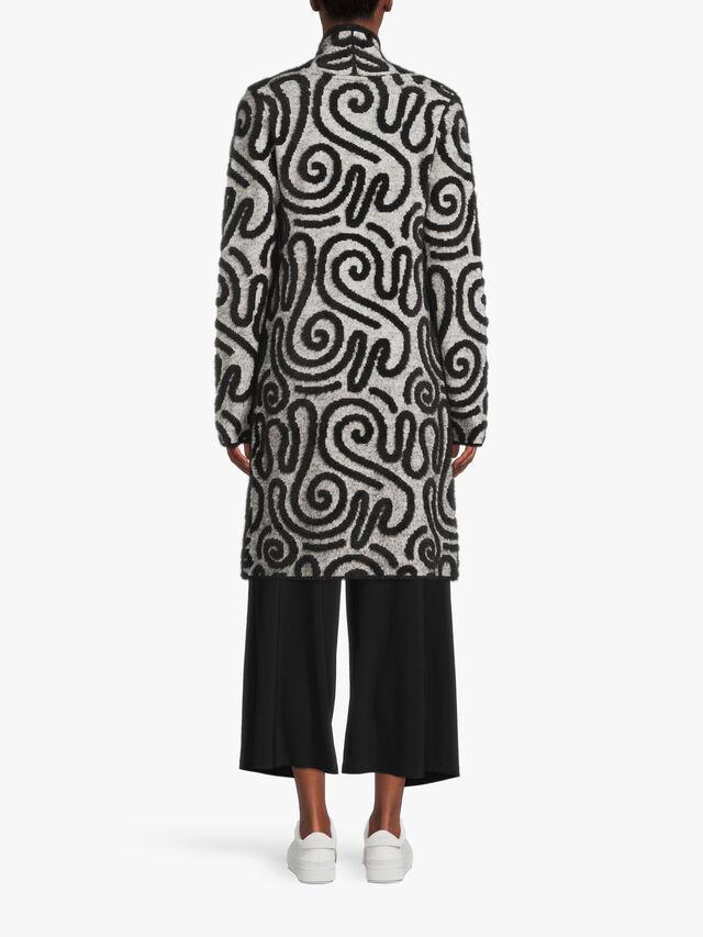 Swirl Textured Coat