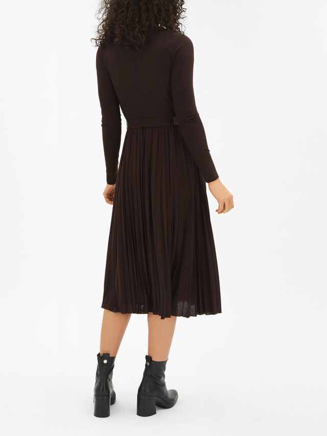 Zufolo Jersey Pleated Midi Dress