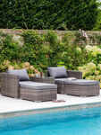 Selbourne All Weather Rattan Double Lounger Set