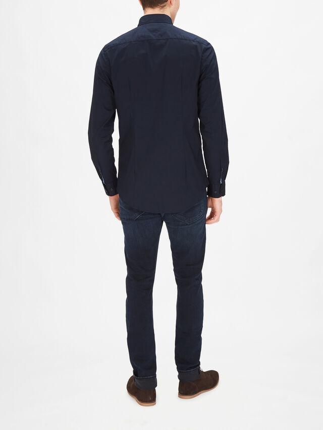 Strech Slim Fit Poplin Shirt