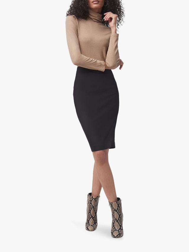 Fino Glass Stretch Pencil Skirt