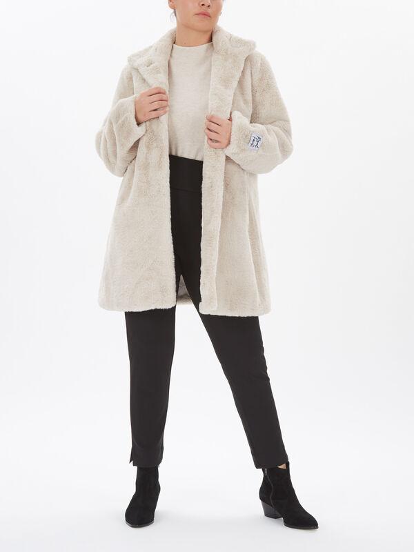 Faux Fur 3 Button Jacket