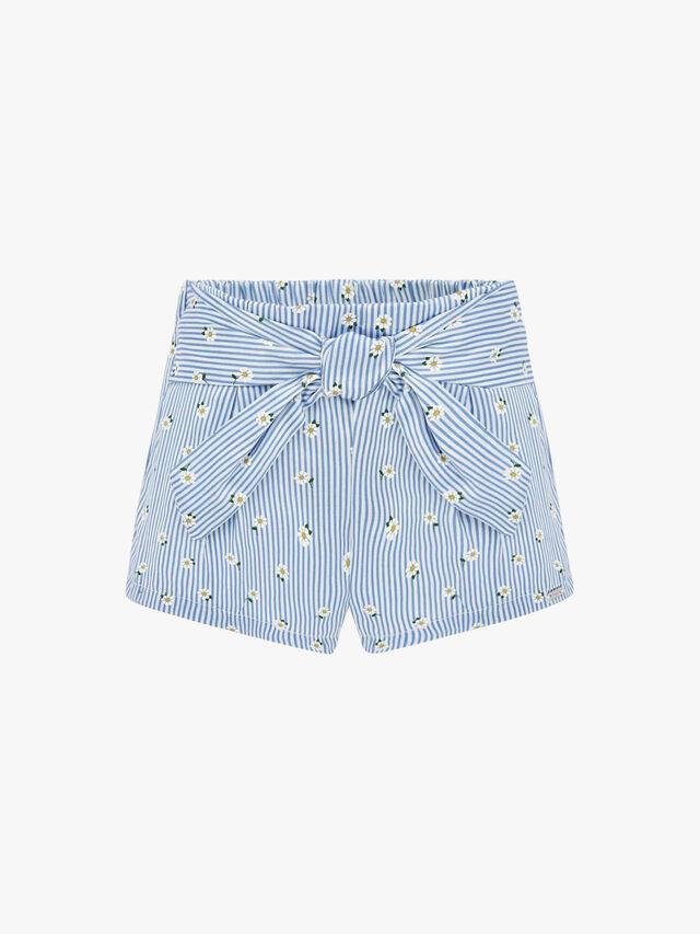 Daisy Stripe Shorts