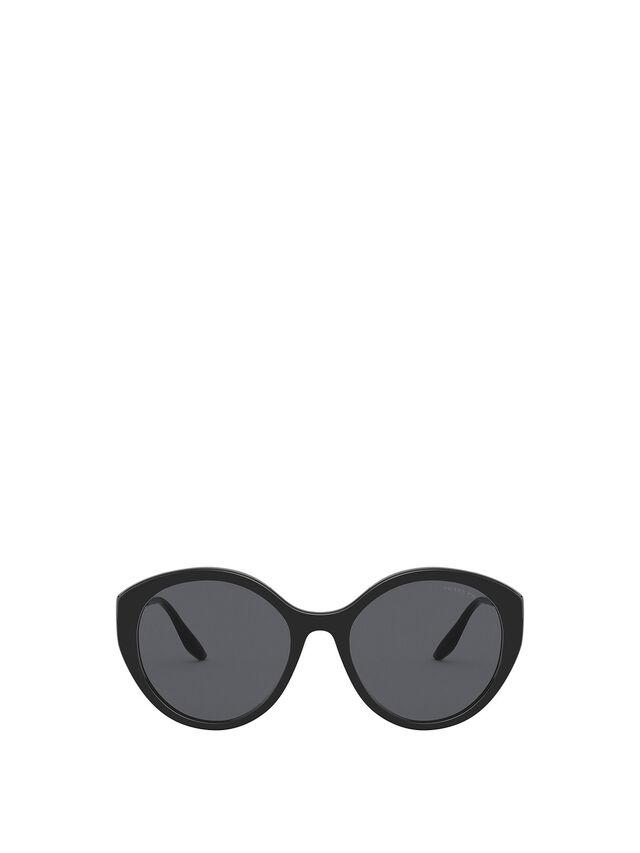Cat-Eye Acetate Metal Temple Sunglasses