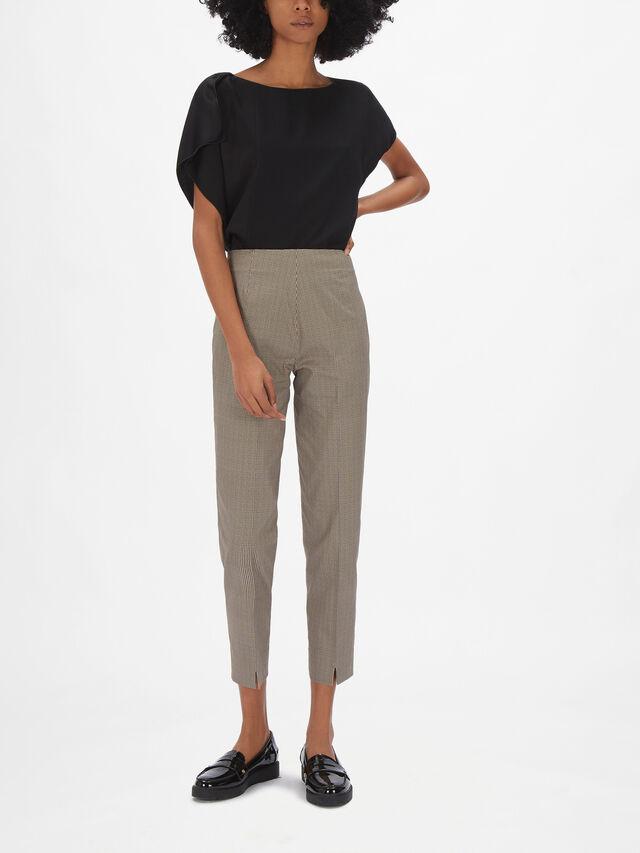 Emanualla Micro Check Trouser