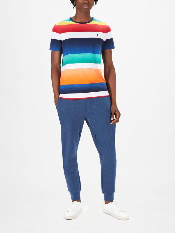 Uneven Jersey Stripe Short Sleeve-T-Shirt