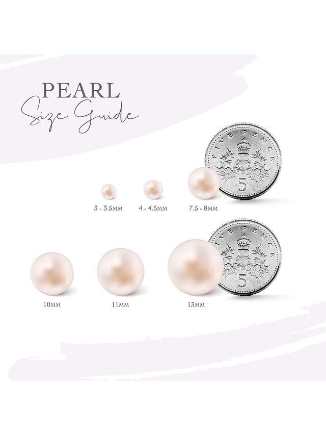Duo White Pearl Earrings