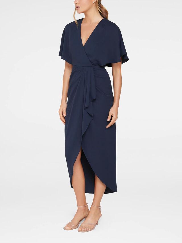 Jasmine Batwing Wrap Midi Dress